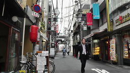 Namba District Osaka Japan 16 Stock Video Footage