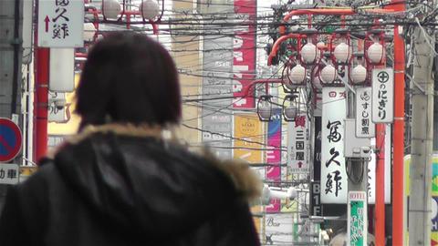 Namba District Osaka Japan 18 Stock Video Footage