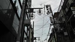 Namba District Osaka Japan 26 lowangle pan Stock Video Footage
