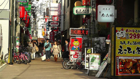 Namba District Osaka Japan 32 Stock Video Footage