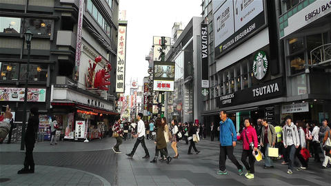 Namba District Osaka Japan 36 Footage