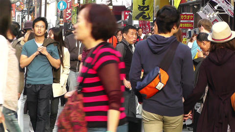 Namba District Osaka Japan 38 Stock Video Footage