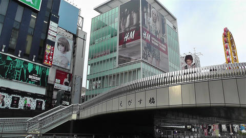 Namba District Osaka Japan 48 Stock Video Footage
