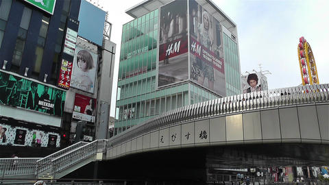 Namba District Osaka Japan 48 Stock Video Footage
