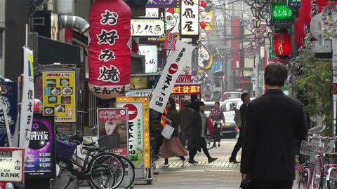 Namba District Osaka Japan 65 Stock Video Footage
