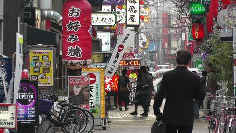 Namba District Osaka Japan 65 Stock Video Footage