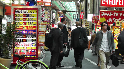Namba District Osaka Japan 71 Footage
