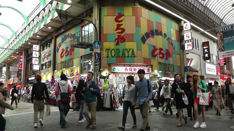 Namba District Osaka Japan 73 Stock Video Footage