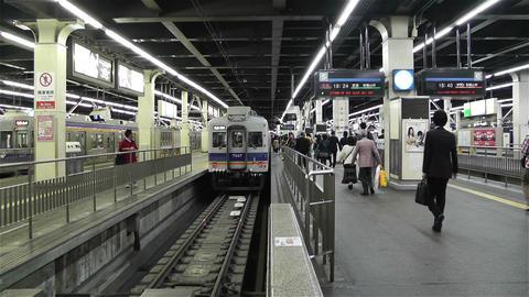 Nankai Namba Station Osaka Japan 8 Stock Video Footage
