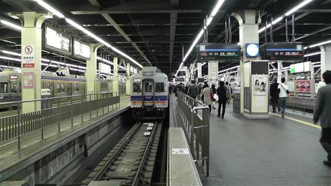 Nankai Namba Station Osaka Japan 8 Footage