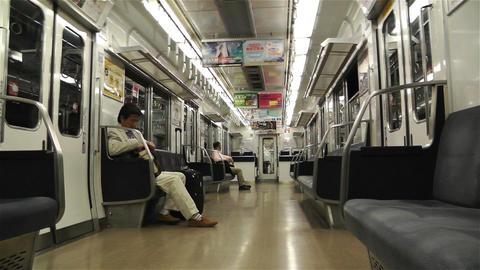Nankai Train in Osaka Japan 4 Footage