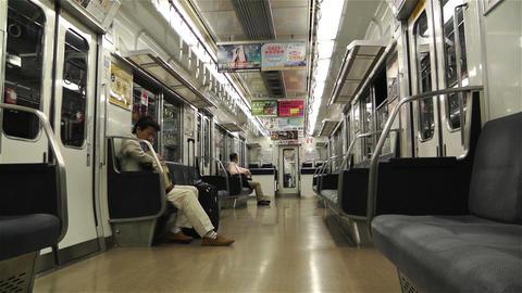 Nankai Train in Osaka Japan 4 Stock Video Footage