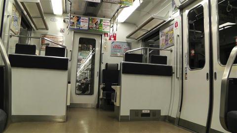 Nankai Train in Osaka Japan 6 Stock Video Footage