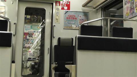 Nankai Train in Osaka Japan 8 Stock Video Footage