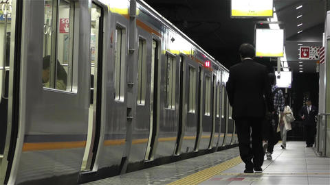 Nankai Train in Osaka Japan 10 Stock Video Footage