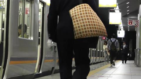 Nankai Train in Osaka Japan 10 Stock Video Footage