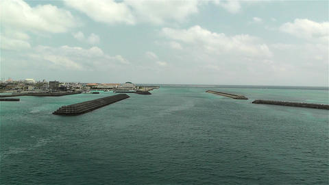 Okinawa Islands Japan 21 breakwater Stock Video Footage