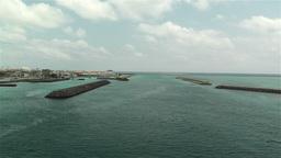 Okinawa Islands Japan 21 breakwater Stock Video Footage