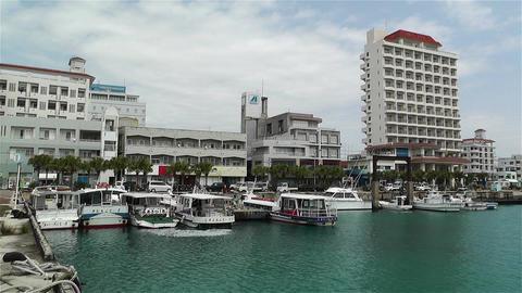 Okinawa Islands Japan 22 port Stock Video Footage