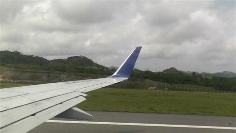Plane Taking Off Okinawa Islands fast motion Footage