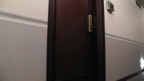 Scary Hotel Corridor 2 pan Stock Video Footage