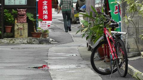 Street in Okinawa Islands 3 Stock Video Footage