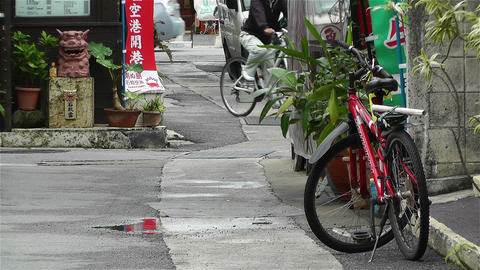 Street in Okinawa Islands 3 Stock Video Footage