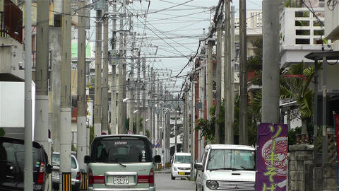 Street in Okinawa Islands 7 Stock Video Footage