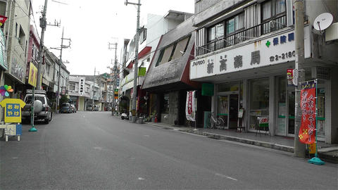 Street in Okinawa Islands 9 Stock Video Footage