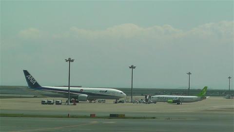 Tokyo Haneda Airport 14 ana flight Footage