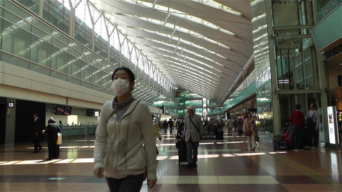 Tokyo Haneda Airport Departure Level 2 Footage