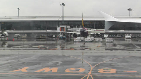 Tokyo Narita Airport 3 Stock Video Footage