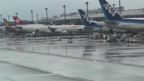 Tokyo Narita Airport 5 Stock Video Footage