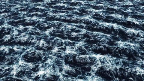 Realistic stormy ocean Stock Video Footage