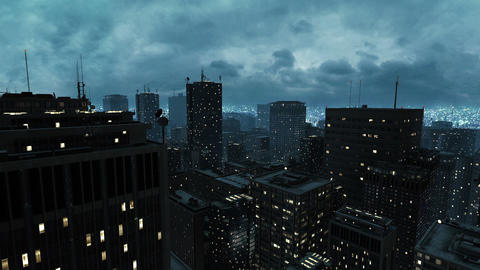 Night city Stock Video Footage