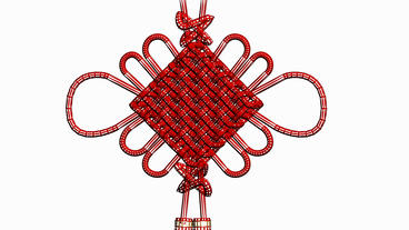 Moving Of 3D Chinese Knot.culture,oriental,year,festival,lunar,china,Grid,mesh,sketch,structure, stock footage