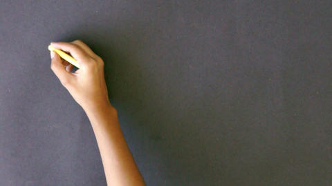 Thanks in different languages Chalk drawing Stock Video Footage