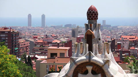 Panorama of Barcelona, Catalonia, Spain Stock Video Footage