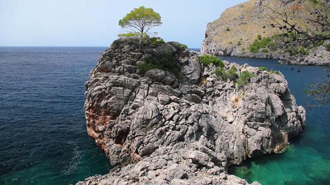 Seashore of Mallorca Island, Balearic Islands, Spain Footage