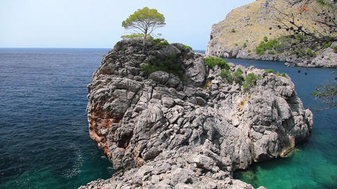 Seashore of Mallorca Island, Balearic Islands, Spain Stock Video Footage
