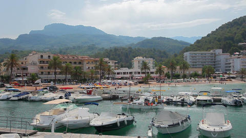 Port de Soller, Mallorca, Spain Stock Video Footage