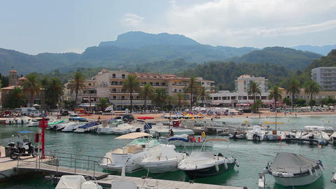 Port de Soller, Mallorca, Spain Stock Video Footage
