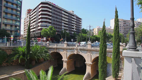Old bridge in center of Palma de Mallorca, Mallorca... Stock Video Footage