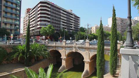 Old bridge in center of Palma de Mallorca, Mallorca... Stock Video Footage