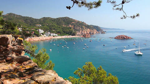 Tossa de Mar, Costa Brava in Catalonia, Spain Stock Video Footage