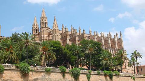 Cathedral La Seu in Palma de Mallorca, Mallorca Island,... Stock Video Footage