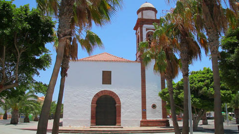 Old church on Fuerteventura Island, Spain Stock Video Footage