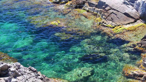 Lloret de Mar, crystal clear water, Costa Brava in... Stock Video Footage