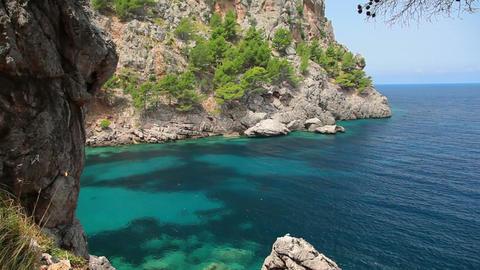Clear crystal water, Mallorca Island, Balearic Islands, Spain Footage