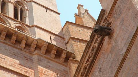 La Seu Cathedral in Palma de Mallorca, Mallorca Island, Spain Footage